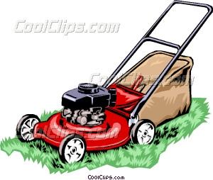 300x254 Lawn Mower Vector Clip Art