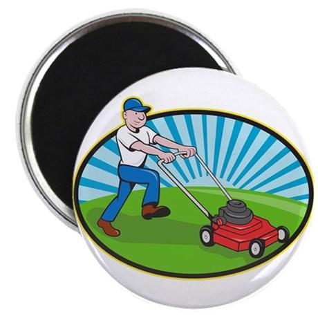 460x460 Lawn Mower Magnet Cafepress