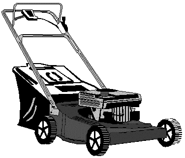 376x323 Top 10 Lawn Mower Clipart Black And White