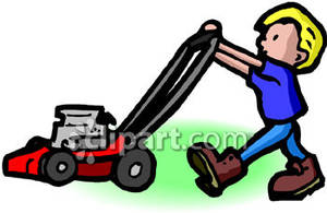 300x195 Boy Clipart Mowing Lawn 2596175