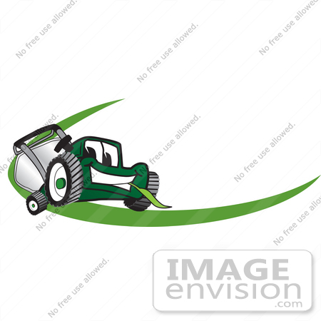 450x450 Clip Art Graphic Of A Green Lawn Mower Mascot Character Chewing