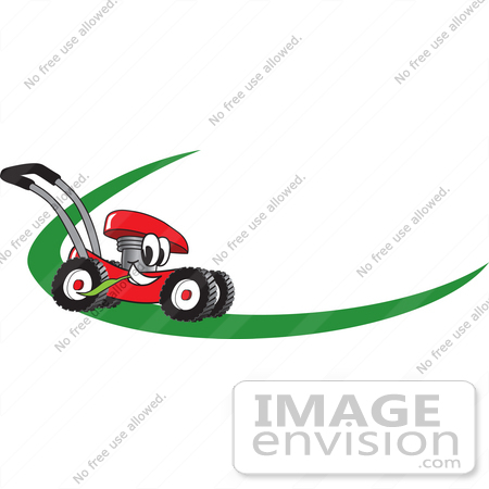 450x450 Cliprt Graphic Of Red Lawn Mower Mascot Character Chewing On