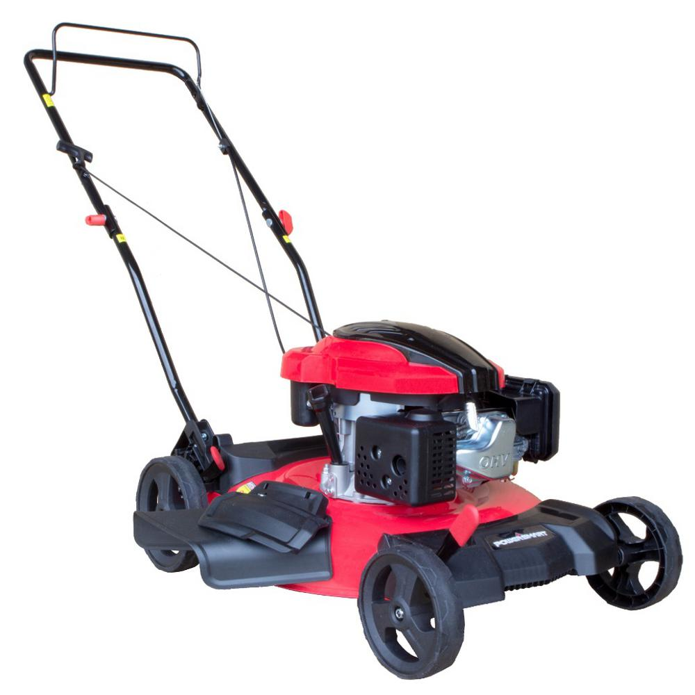 1000x1000 Powersmart 21 In. 2 In 1 159cc Gas Push Walk Behind Lawn Mower