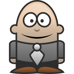 256x256 Free Bald Lawyer Clip Art