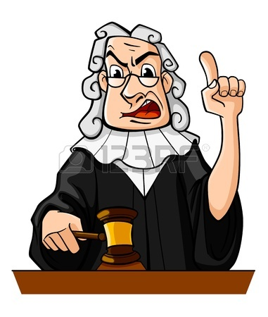 381x450 Angry Judge With Gavel Makes Verdict For Law, Vector Royalty Free