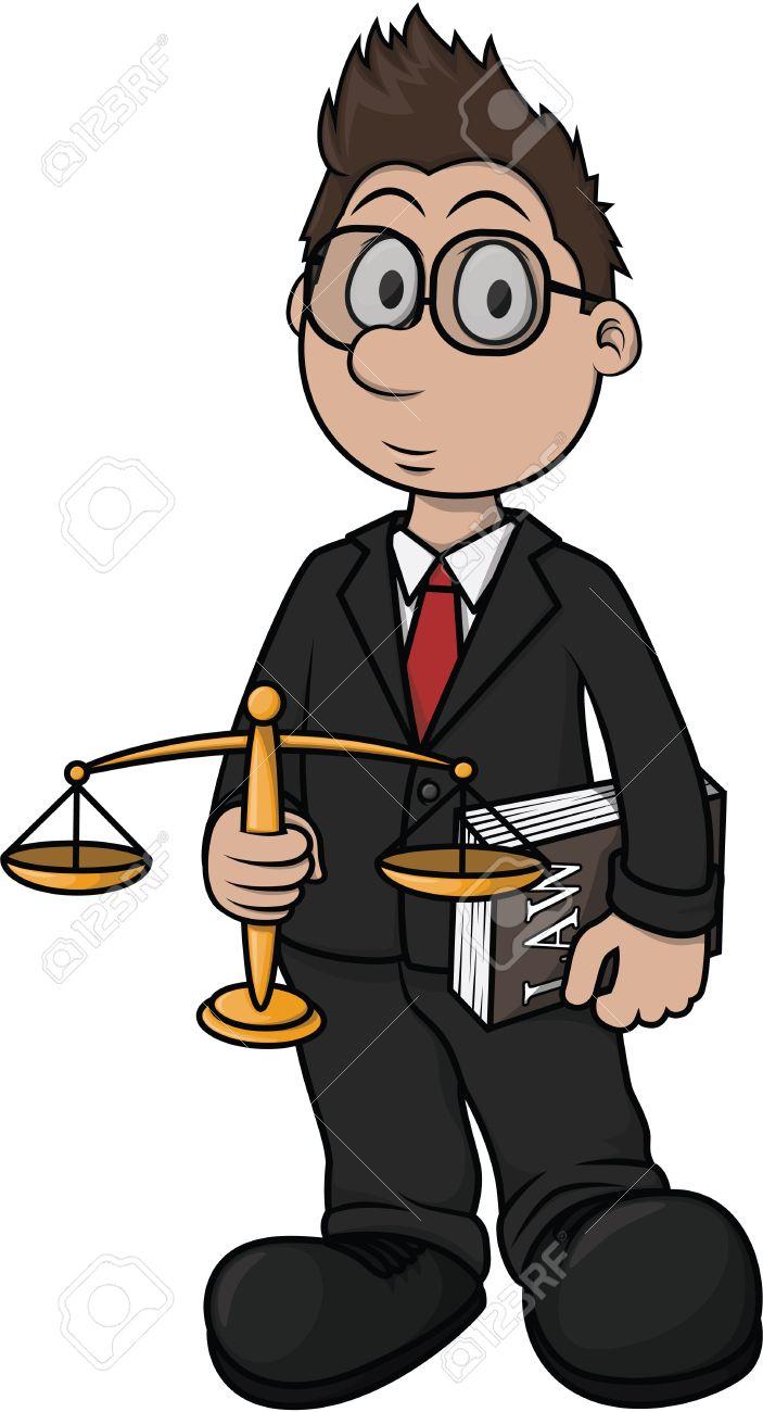 703x1300 Lawyer Cartoon Illustration Design Royalty Free Cliparts, Vectors