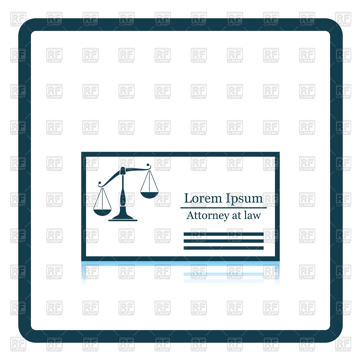 1200x1200 Lawyer Business Card Icon Royalty Free Vector Clip Art Image