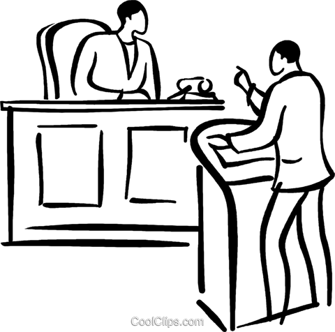480x476 Lawyer Presenting His Case Royalty Free Vector Clip Art