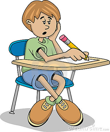375x450 Boy Turning In Assignment Clipart