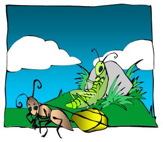 320x279 Grasshopper Clipart Lazy