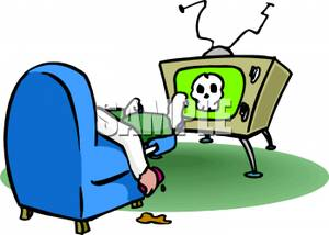 300x214 Tv Clipart Lazy