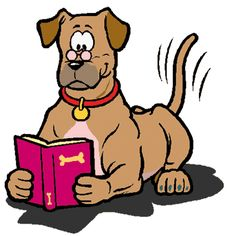 236x236 Reading Dog Clipart