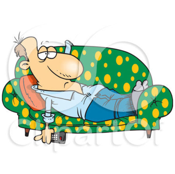 560x555 The Lazy On Couch Clipart