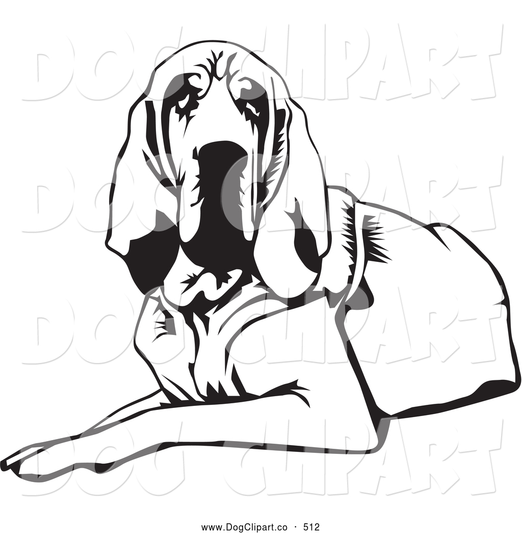 1024x1044 Vector Clip Art Of A Cute And Tired And Lazy Bloodhound Dog, Or St