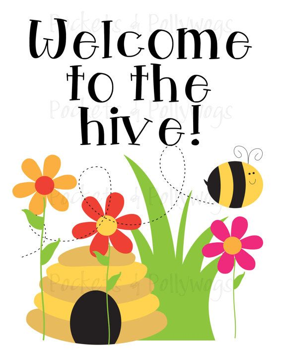 570x713 Bee Hive Clipart Welcome
