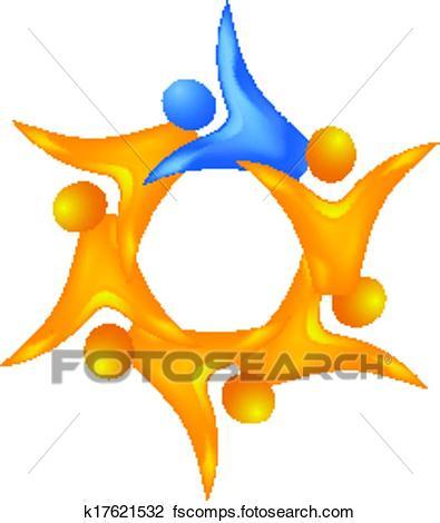 395x470 Clipart Of 3 D Teamwork Leadership Logo K17621532