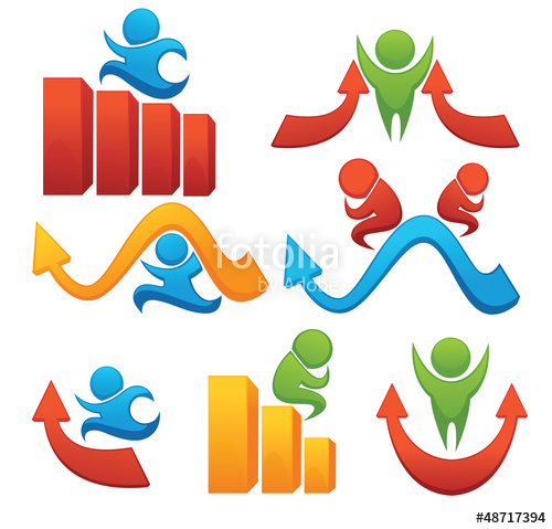 500x479 Leadership And Success Vector Collection Of Symbols Stock Image