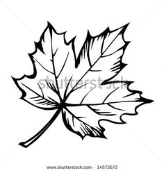 236x246 Geometric Print, Black On White Geometric Maple Leaf Print, Black