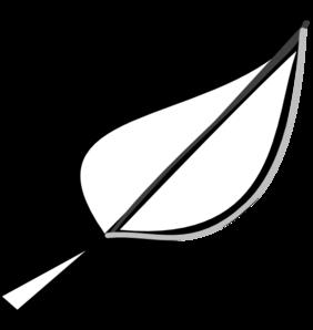 282x298 Leaf Outline Clip Art