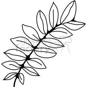 300x300 Royalty Free Black Locust Leaf 387372 Vector Clip Art Image