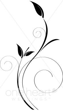 220x388 Free Vine Black And White Clipart