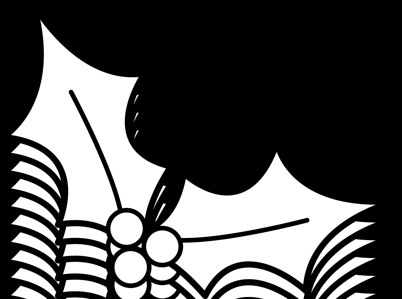 5432x4046 Holly Leaf Clip Art