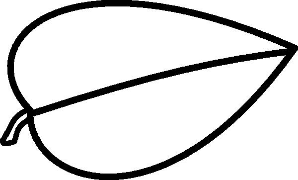 600x362 Leaf Outline Clip Art