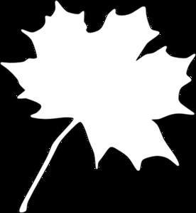 276x299 White Leaf Clip Art