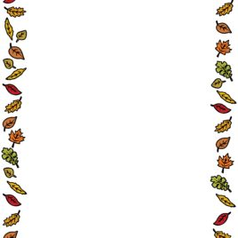 268x268 Fall Leaves Border Clipart Clipart Kid Leaf Border Coloring Page