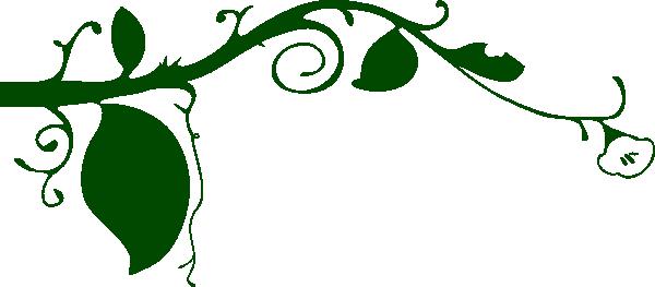 600x263 Dark Green Vine Border Clip Art