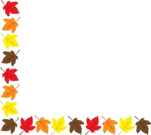 300x268 Fall Border Fall Leaves Border Clipart Free Images 5