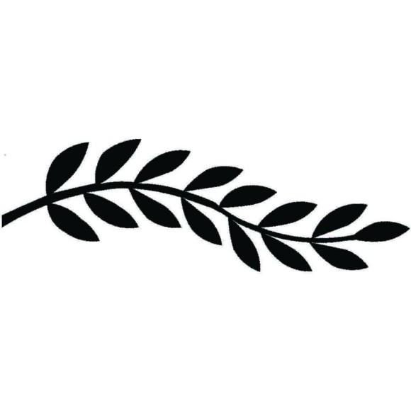 580x580 Laurel Leaf Border Clip Art