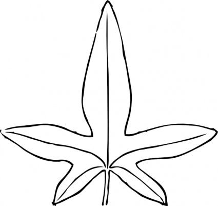 425x401 Ivy Leaf Vine Clip Art