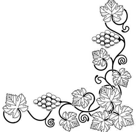 450x436 Leaf Border Clipart Black And White