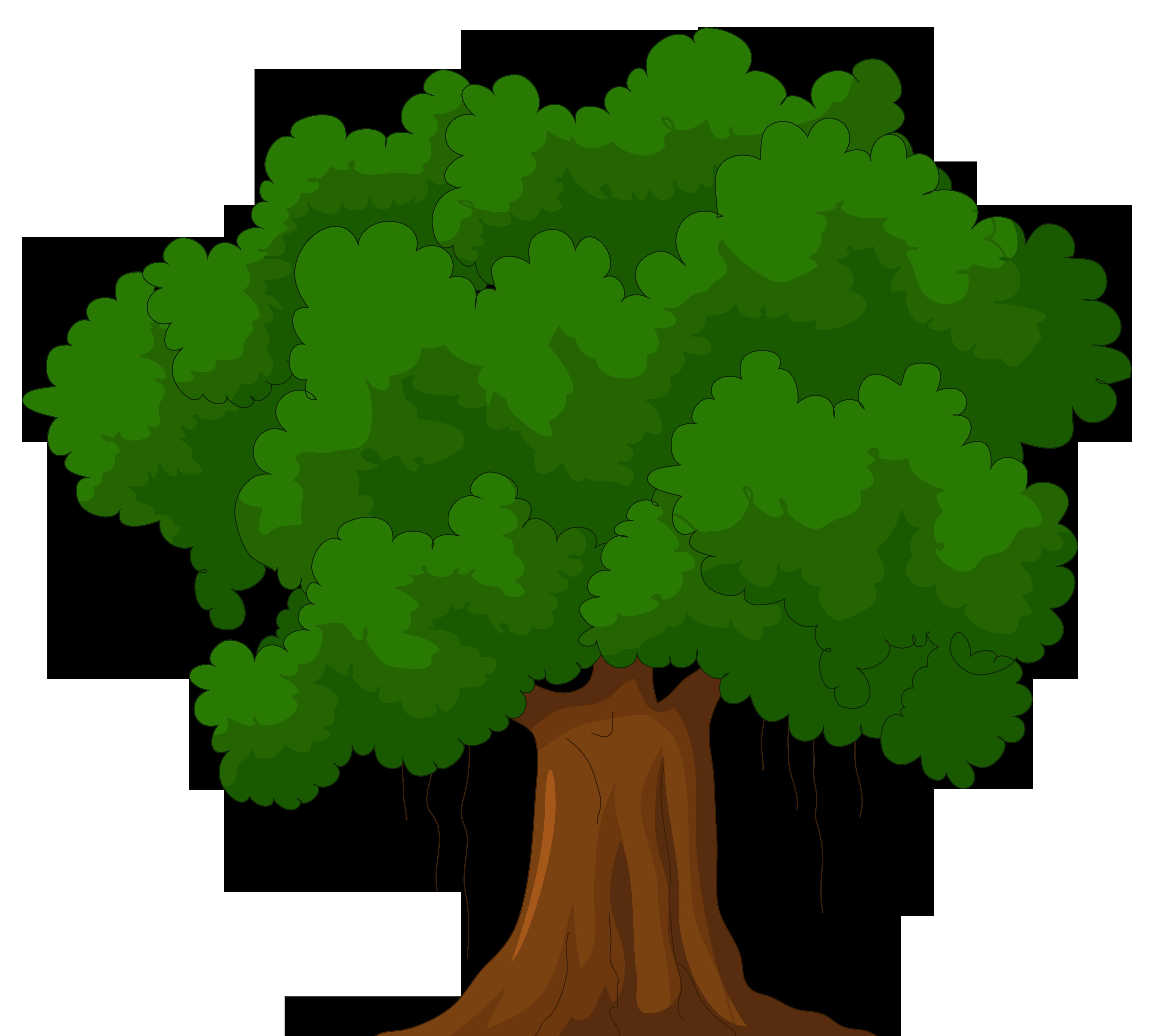 4992x4478 Cartoon Green Tree Png Clipart