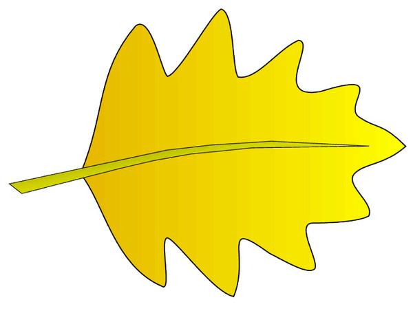 600x452 Leaf clip art 13. yellow Leaf Clipart Panda