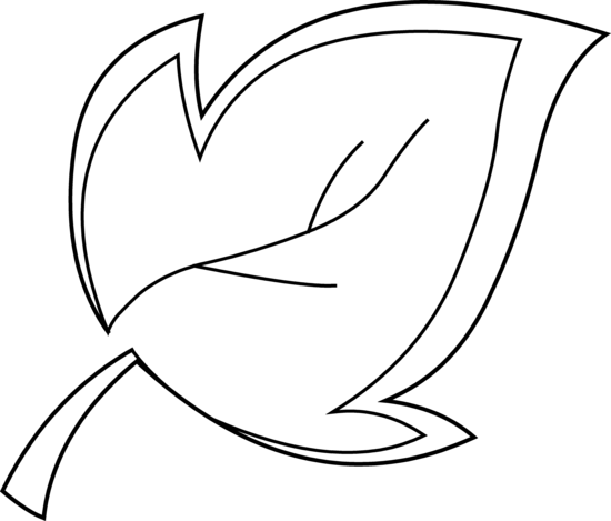 550x469 Tree Leaf Coloring Page