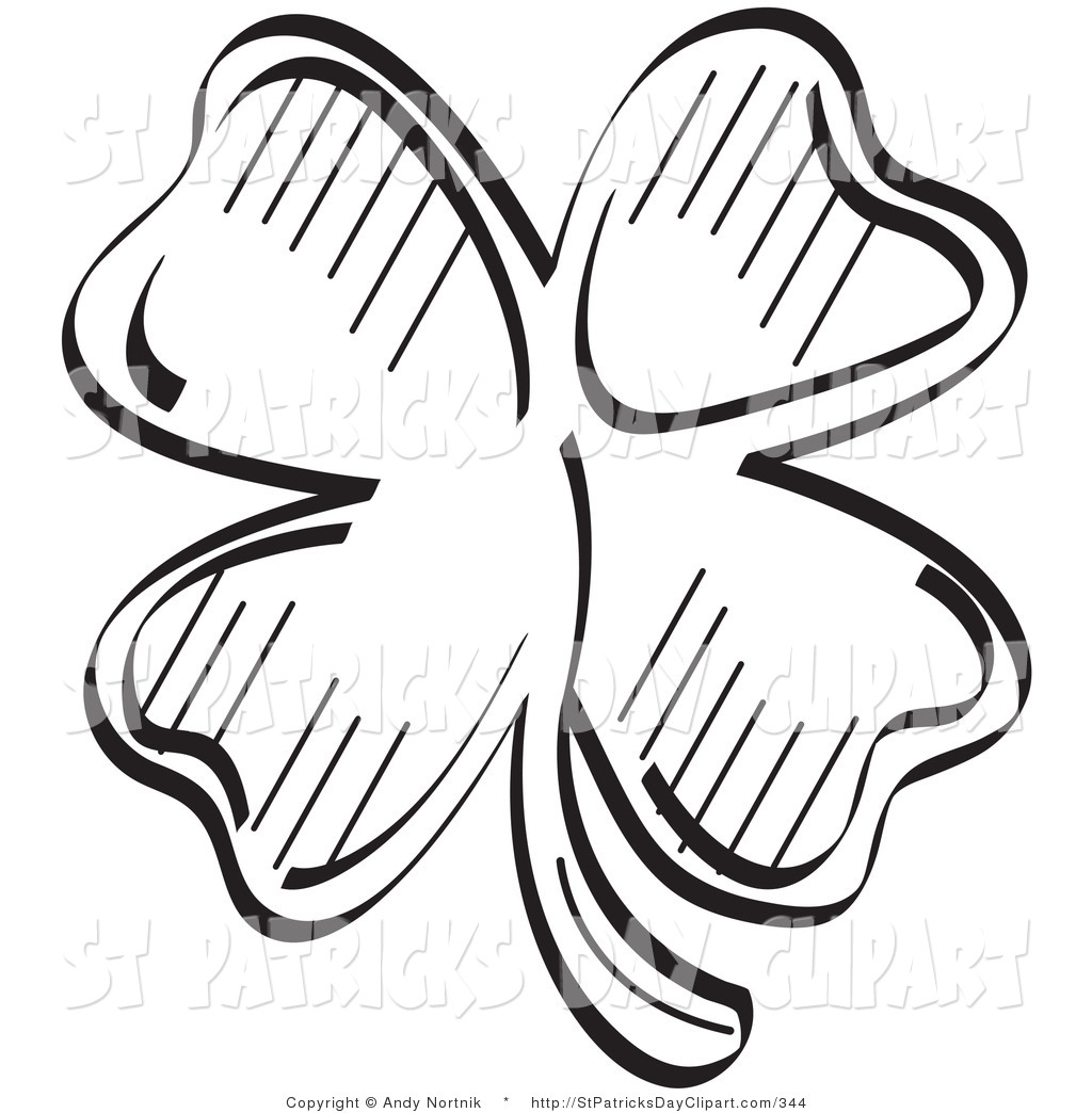 1024x1044 Clover Black And White Clipart