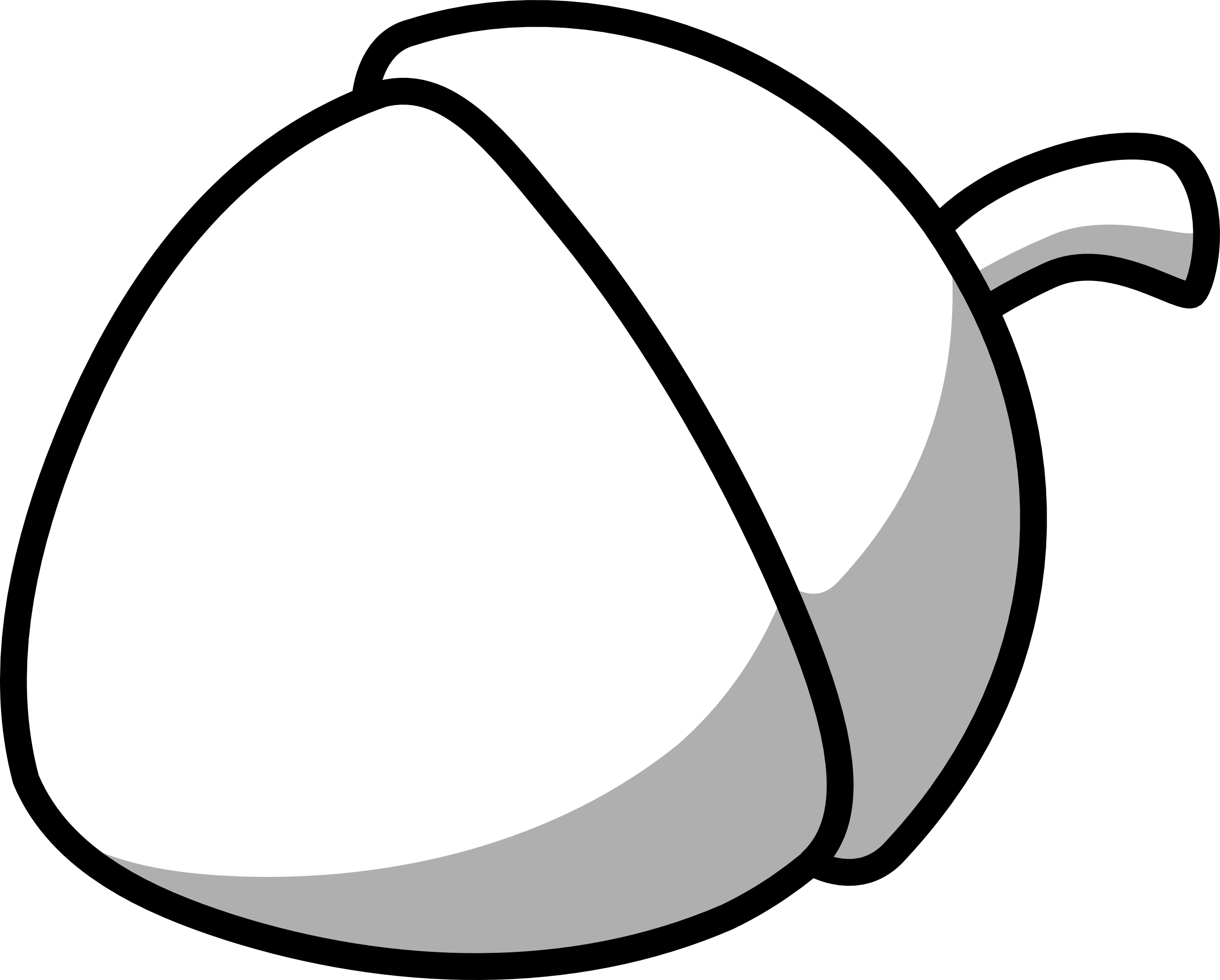 2555x2052 Acorn Clipart Black And White