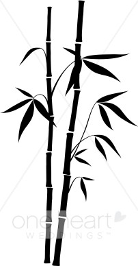 202x388 Black Bamboo Clipart Wedding Leaf