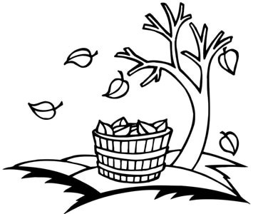 355x300 Best Fall Leaves Clip Art Black And White