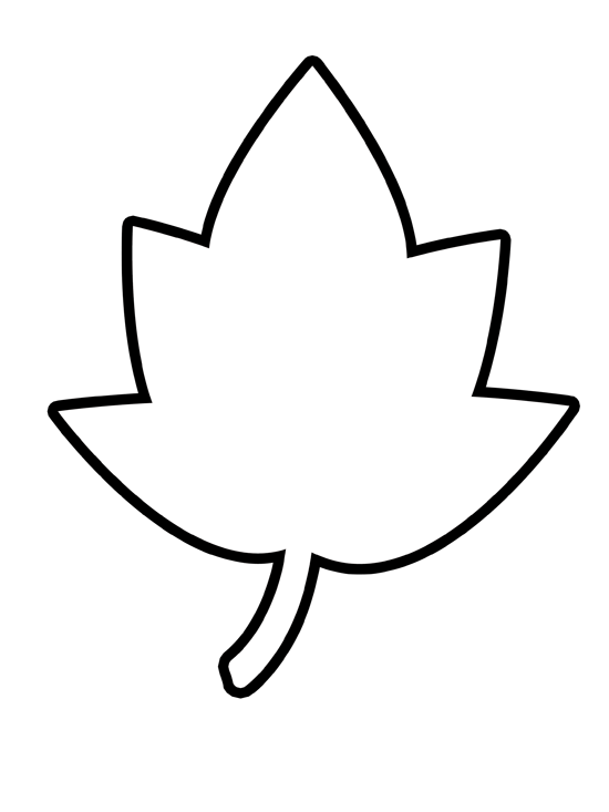 leaf template black and white