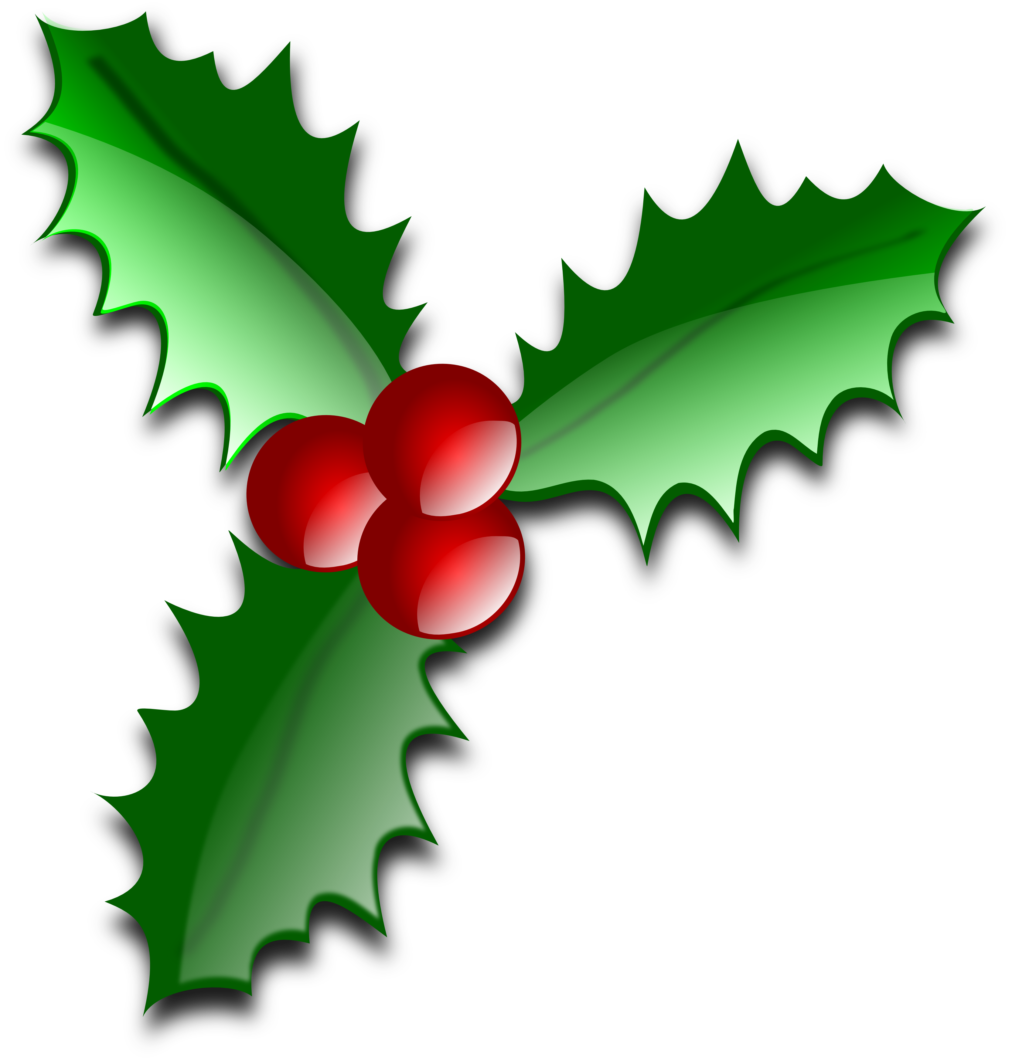 3333x3506 Free Christmas Clip Art Holly Christmas Holly Clipart Holly