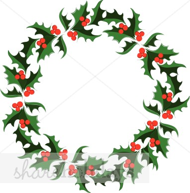382x388 Graphics For Graphics Holly Leaf Garland