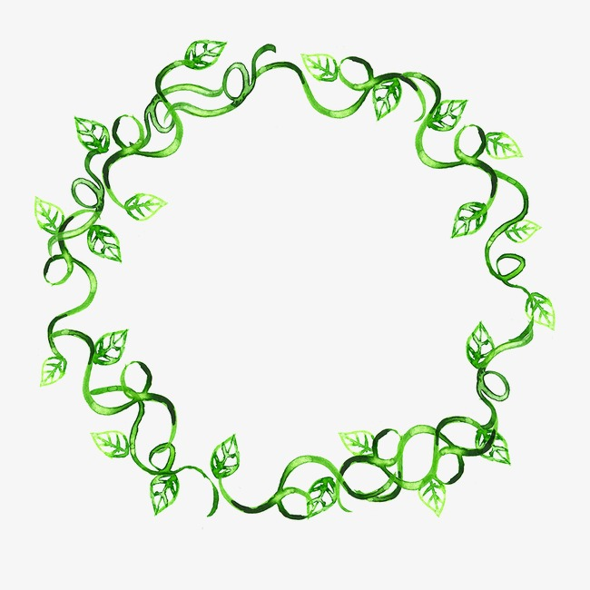 650x650 Green Leaf Garland, Green Leaves, Wreath, Green Png Image For Free