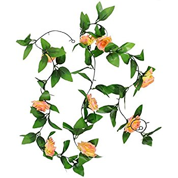 350x350 8.2ft Artificial Silk Rose Flower Ivy Vine Leaf