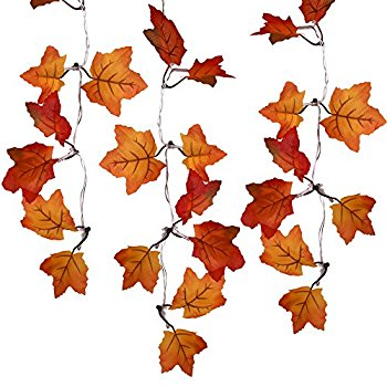 350x350 Sexyrobot 9.8 Feet Fall Maple Leaf Garland, Battery