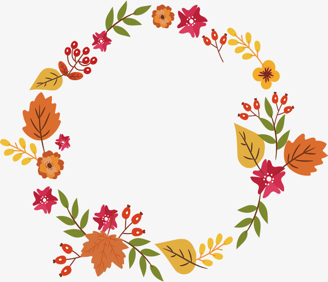 650x559 Colorful Autumn Leaves, Vector Png, Garland, Autumn Garlands Png
