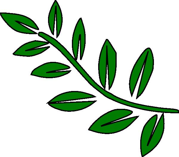 600x528 10 Leaf Stem Clip Art