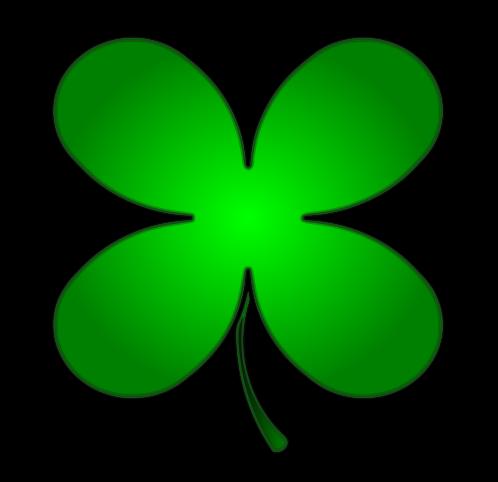498x482 Four Leaf Clover Clipart